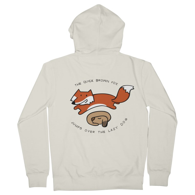 The quick brown fox Men's Zip-Up Hoody by adrianachionetti's Artist Shop