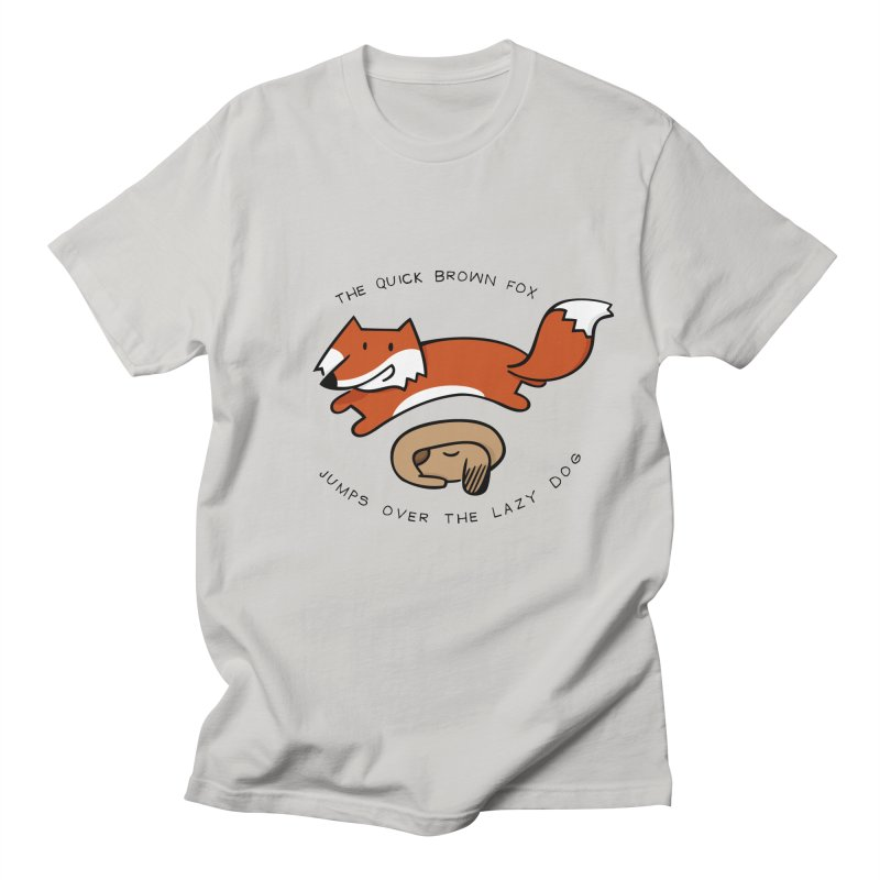 The quick brown fox Men's T-Shirt by adrianachionetti's Artist Shop