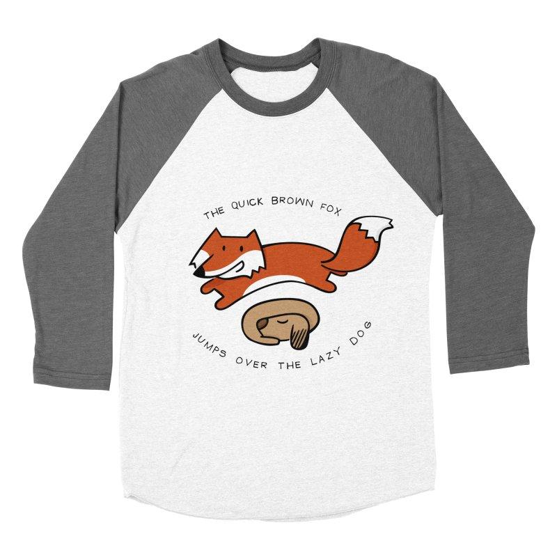 The quick brown fox Men's Baseball Triblend T-Shirt by adrianachionetti's Artist Shop