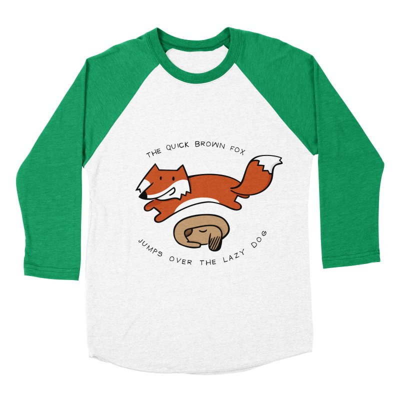 The quick brown fox Men's Baseball Triblend T-Shirt by adrianachionetti's Artist Shop