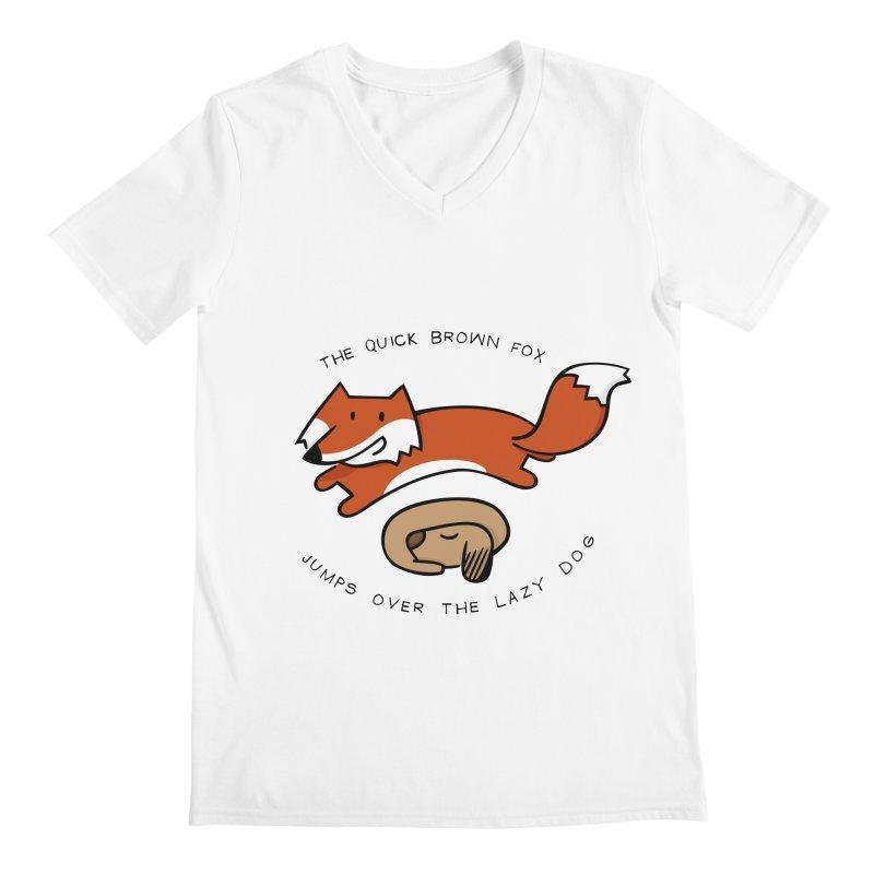 The quick brown fox Men's V-Neck by adrianachionetti's Artist Shop