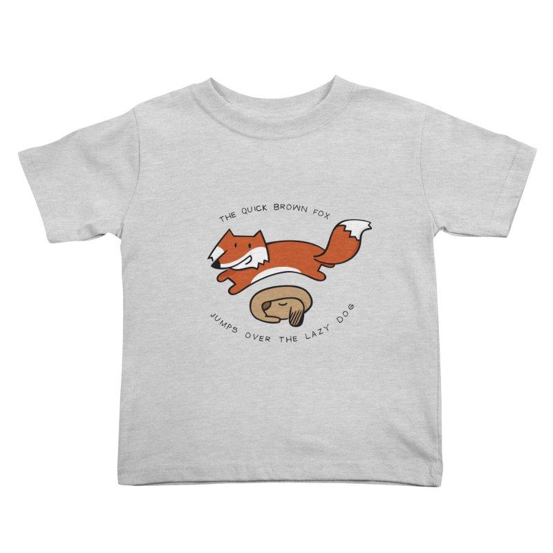 The quick brown fox Kids Toddler T-Shirt by adrianachionetti's Artist Shop