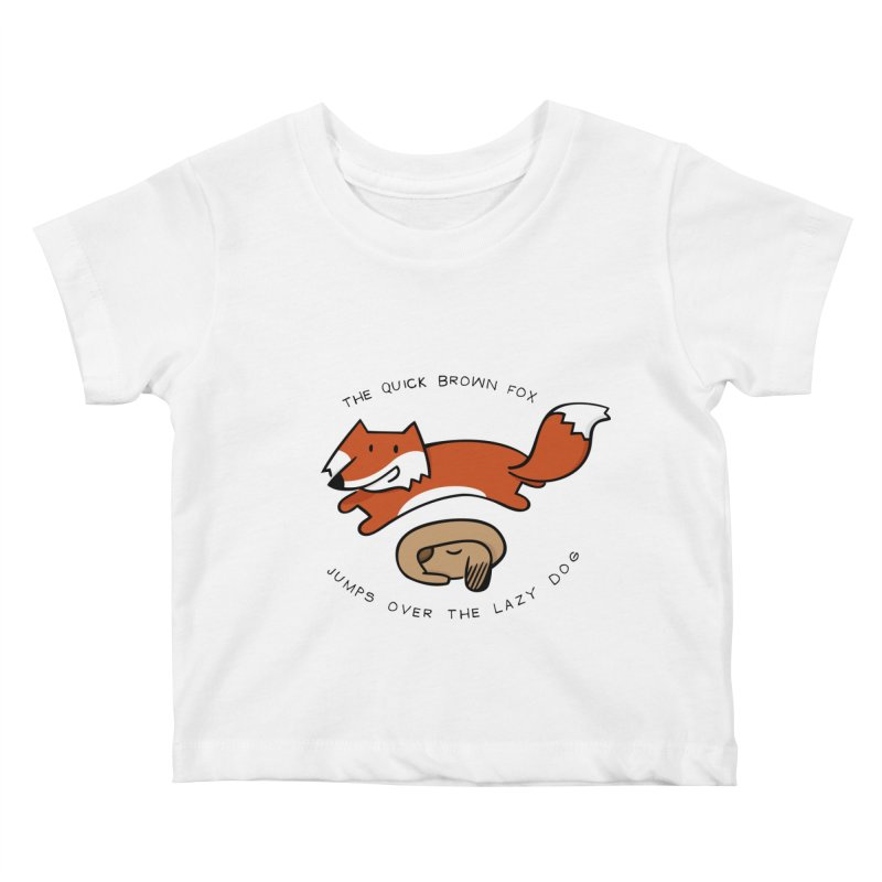 The quick brown fox Kids Baby T-Shirt by adrianachionetti's Artist Shop