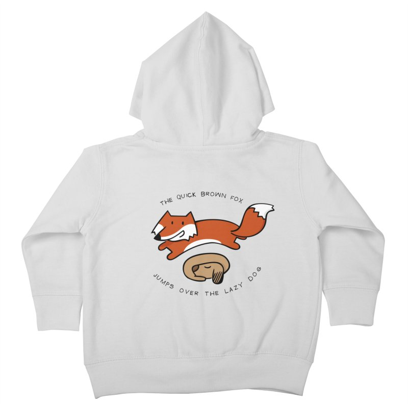 The quick brown fox Kids Toddler Zip-Up Hoody by adrianachionetti's Artist Shop