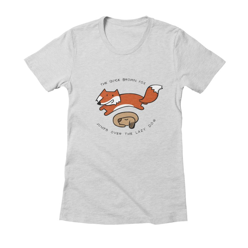 The quick brown fox Women's Fitted T-Shirt by adrianachionetti's Artist Shop