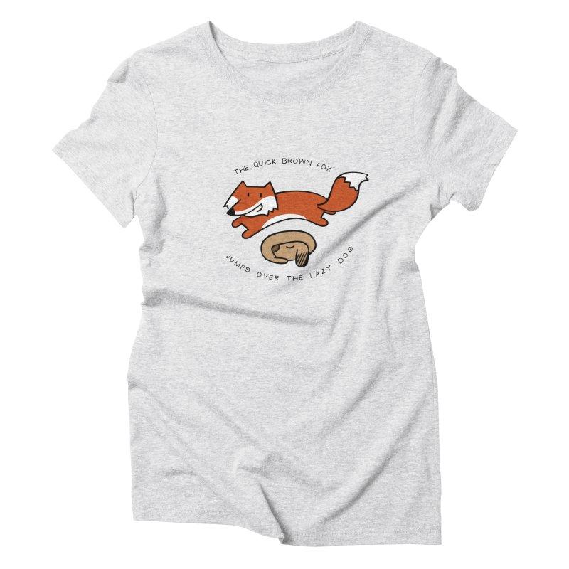 The quick brown fox Women's Triblend T-shirt by adrianachionetti's Artist Shop