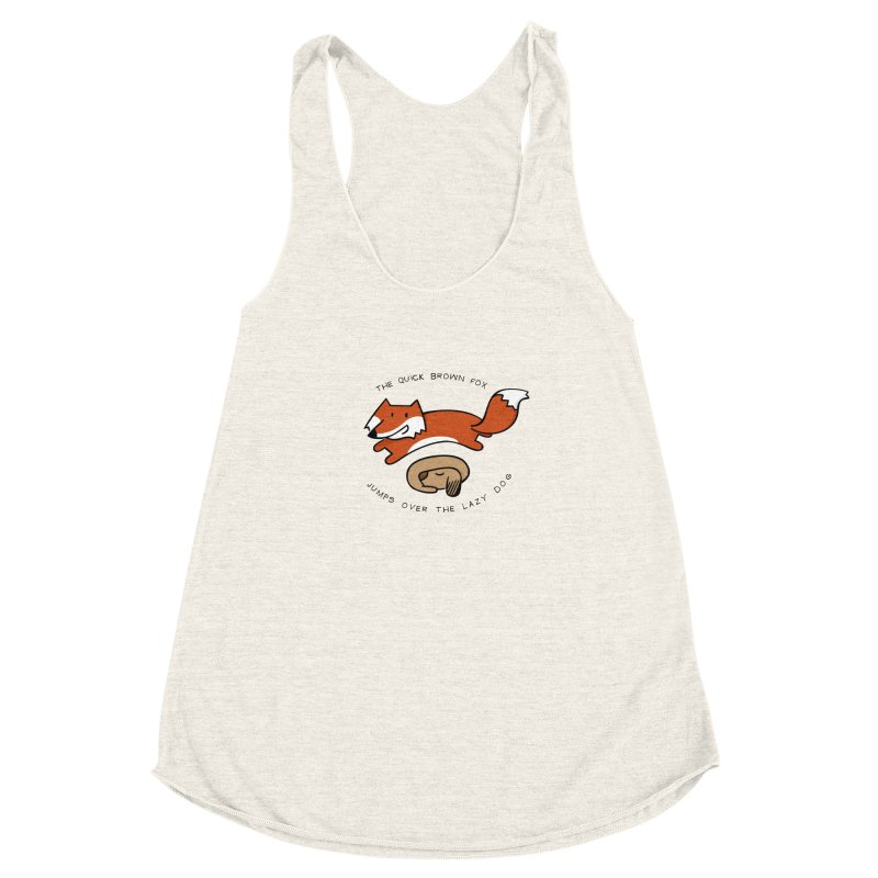 The quick brown fox Women's Racerback Triblend Tank by adrianachionetti's Artist Shop