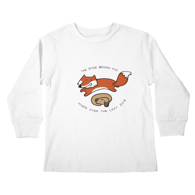The quick brown fox Kids Longsleeve T-Shirt by adrianachionetti's Artist Shop