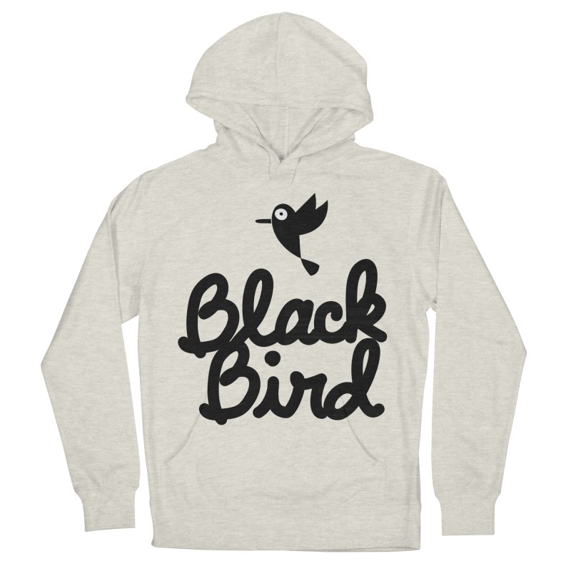 Black Bird Men's Pullover Hoody by adrianachionetti's Artist Shop