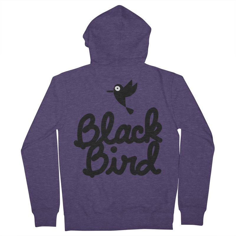 Black Bird Men's Zip-Up Hoody by adrianachionetti's Artist Shop