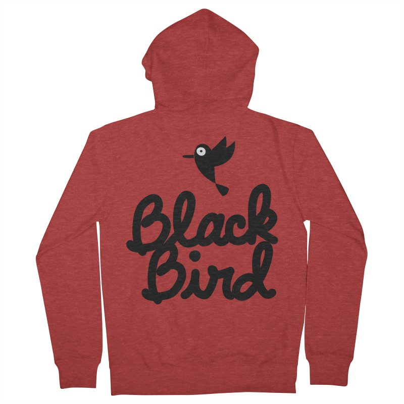 Black Bird Men's Zip-Up Hoody by adrianachionetti's Artist Shop