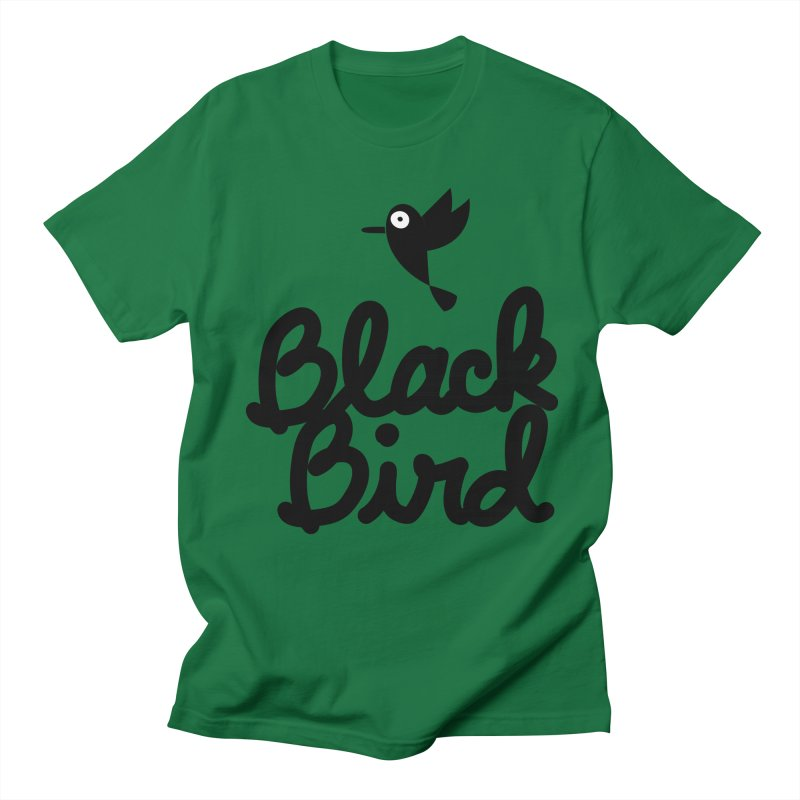 Black Bird Men's T-shirt by adrianachionetti's Artist Shop
