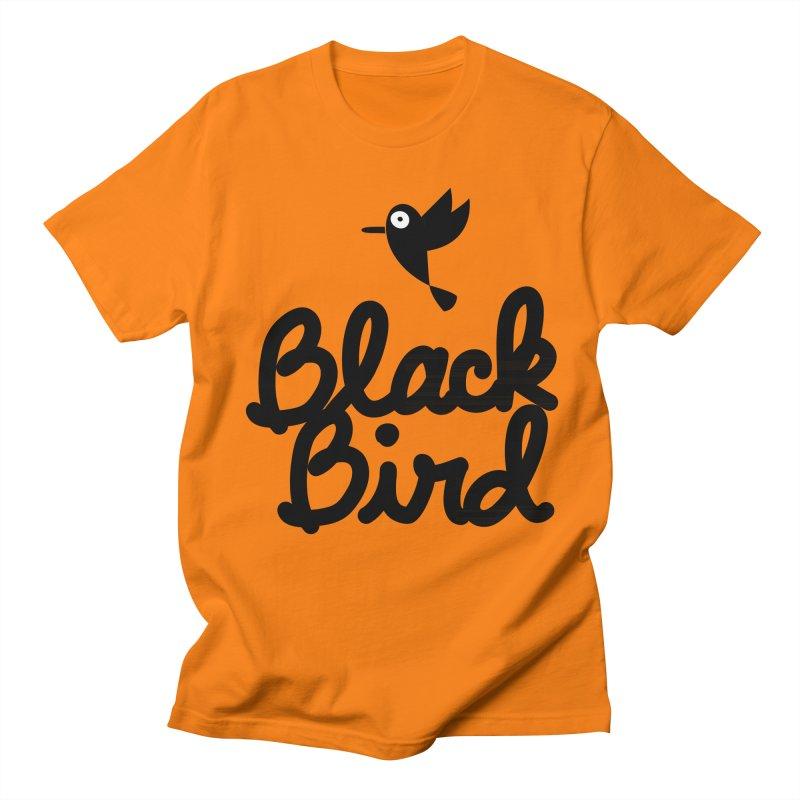 Black Bird Men's T-shirt by adrianachionetti's Artist Shop