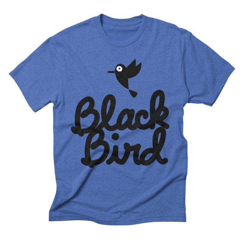 Black Bird Men's Triblend T-Shirt by adrianachionetti's Artist Shop