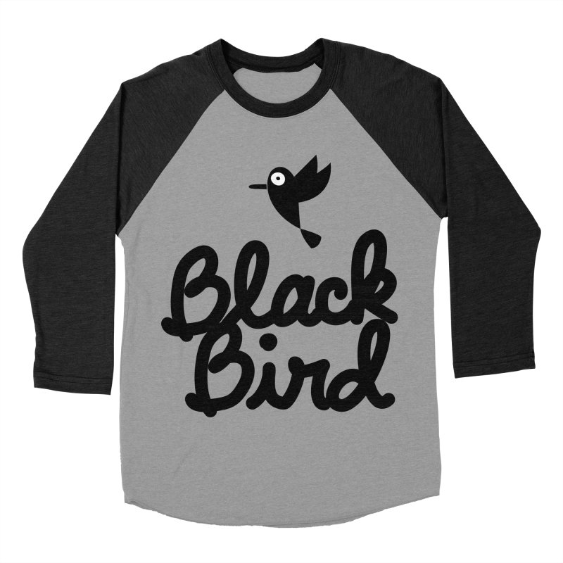 Black Bird Women's Baseball Triblend T-Shirt by adrianachionetti's Artist Shop