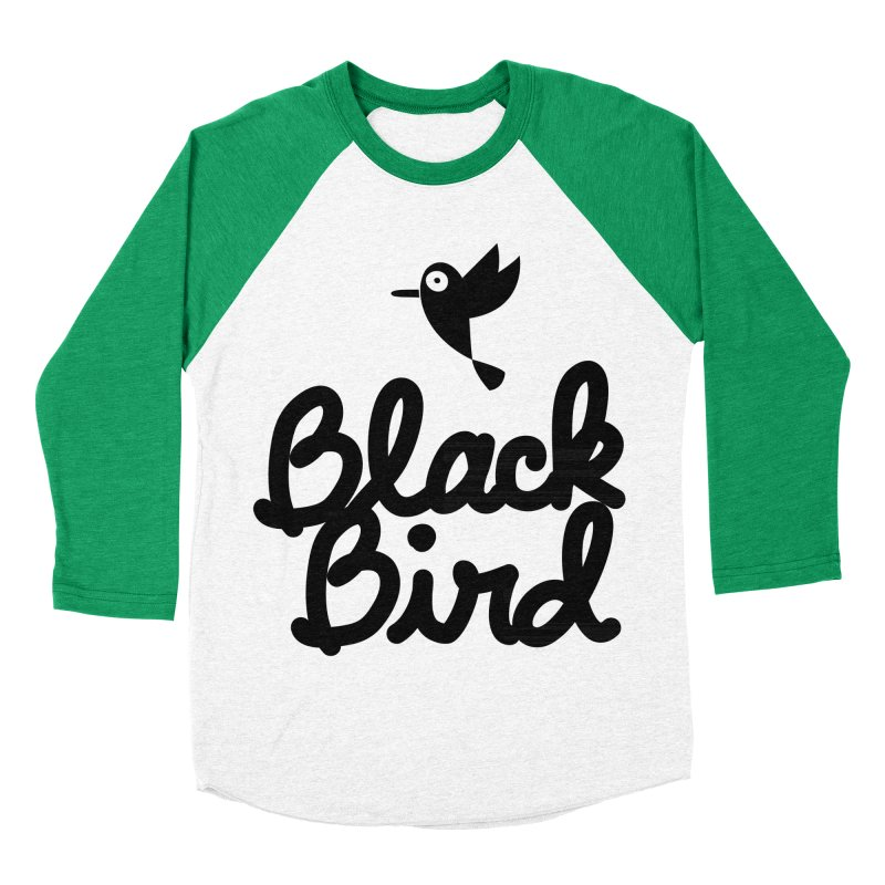 Black Bird Men's Baseball Triblend T-Shirt by adrianachionetti's Artist Shop