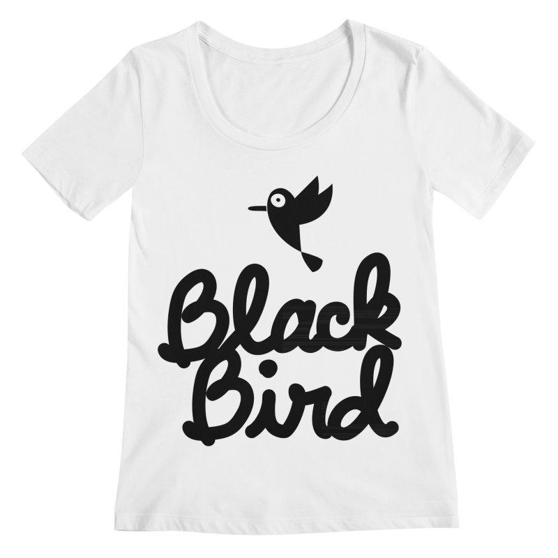 Black Bird Women's Scoopneck by adrianachionetti's Artist Shop