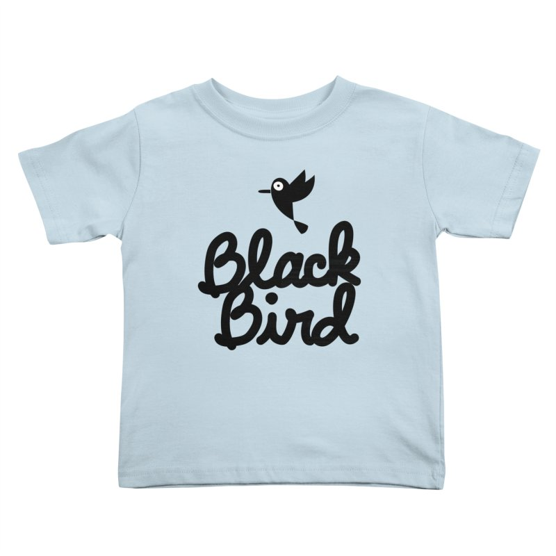 Black Bird Kids Toddler T-Shirt by adrianachionetti's Artist Shop