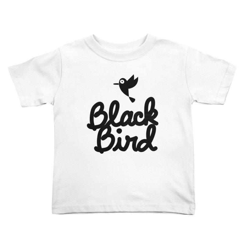 Black Bird Kids Toddler T-Shirt by adrianachionetti's Artist Shop