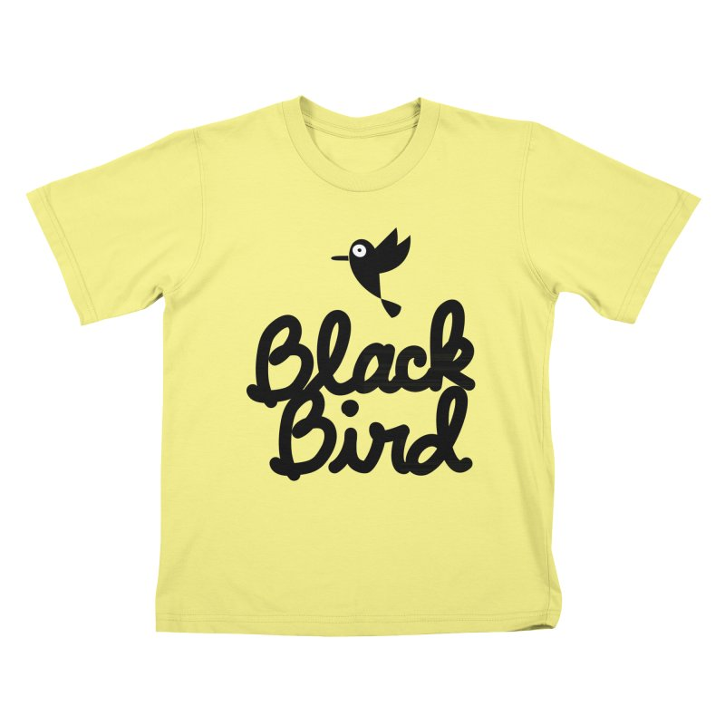 Black Bird Kids T-shirt by adrianachionetti's Artist Shop