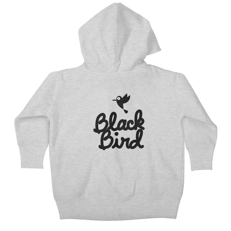 Black Bird Kids Baby Zip-Up Hoody by adrianachionetti's Artist Shop