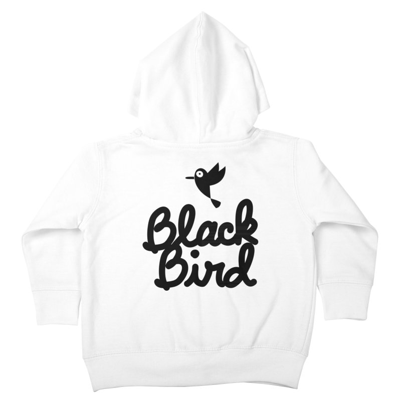 Black Bird Kids Toddler Zip-Up Hoody by adrianachionetti's Artist Shop