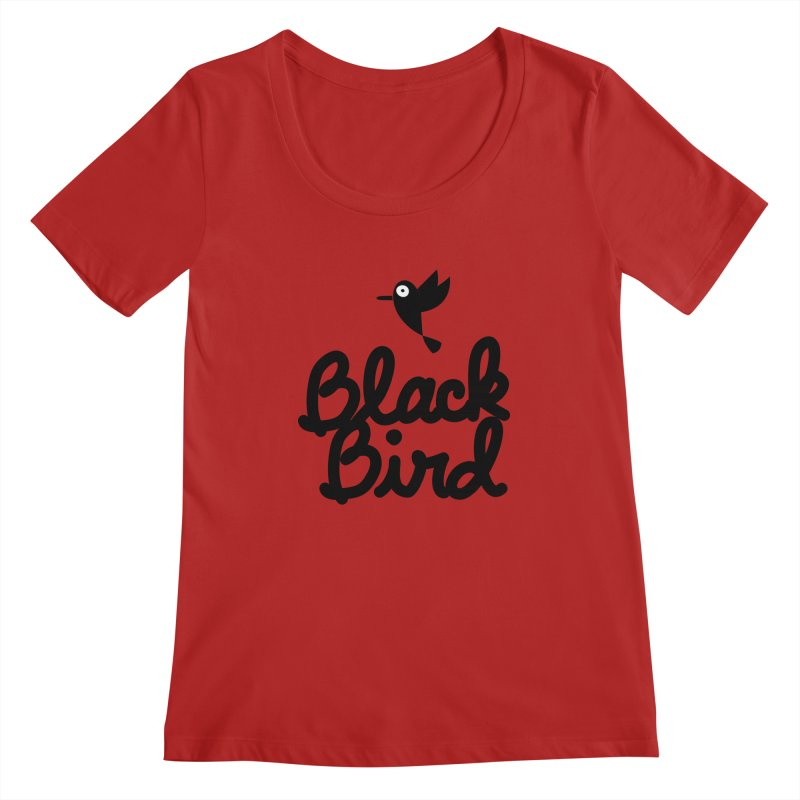 Black Bird Women's Scoopneck by adrianachionetti's Artist Shop