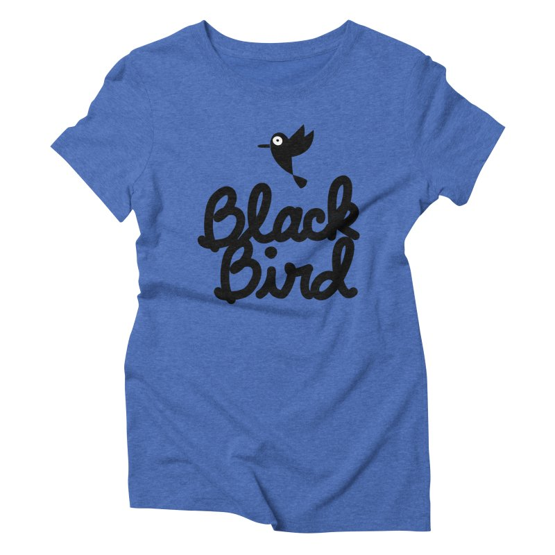 Black Bird Women's Triblend T-shirt by adrianachionetti's Artist Shop