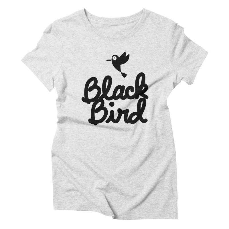 Black Bird Women's Triblend T-Shirt by adrianachionetti's Artist Shop
