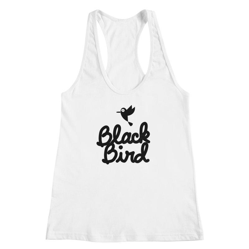Black Bird Women's Racerback Tank by adrianachionetti's Artist Shop