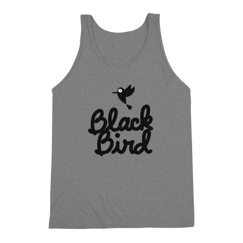 Black Bird Men's Triblend Tank by adrianachionetti's Artist Shop