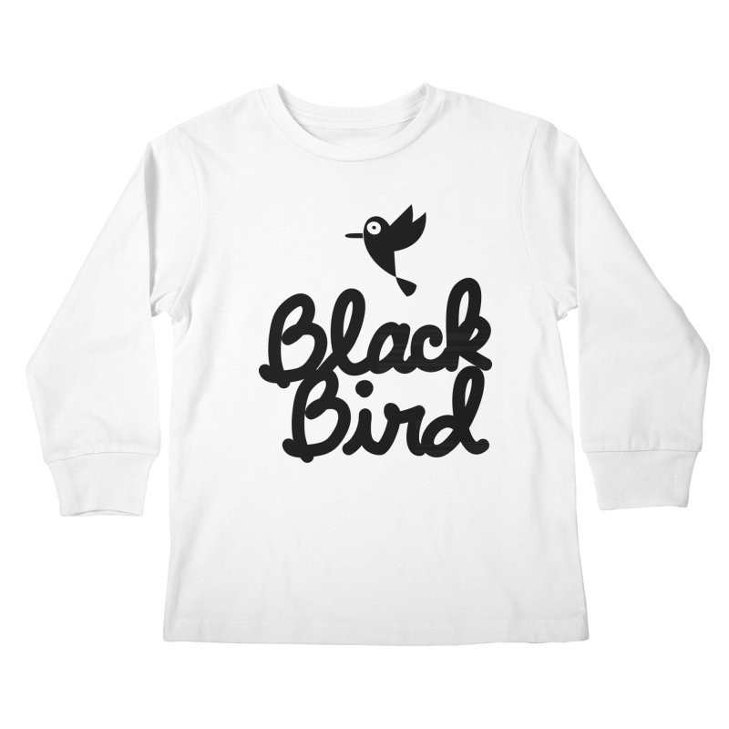 Black Bird Kids Longsleeve T-Shirt by adrianachionetti's Artist Shop