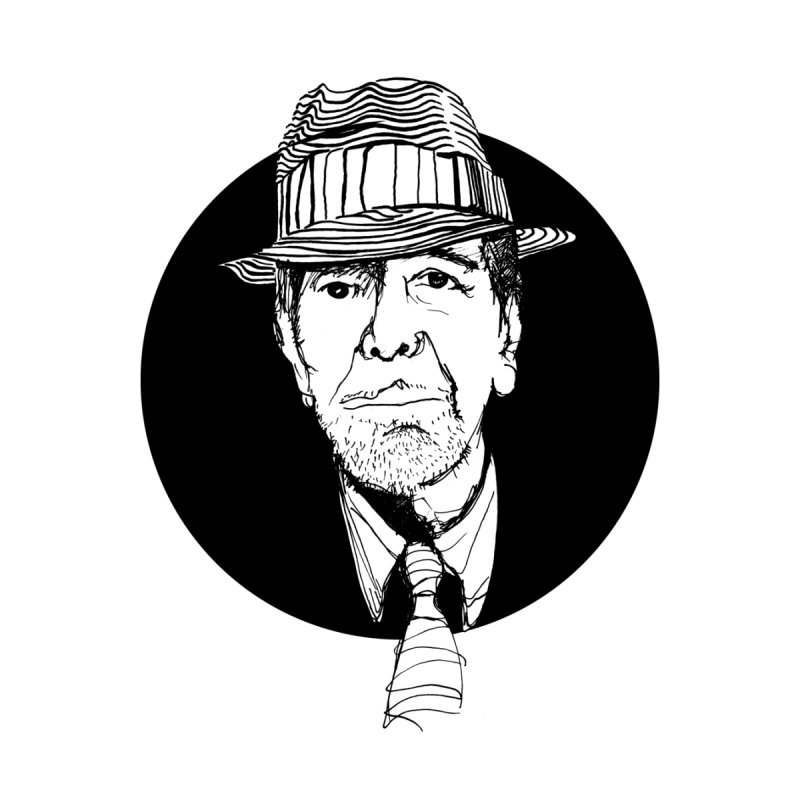 Leonard Cohen   by adriancastle's Artist Shop