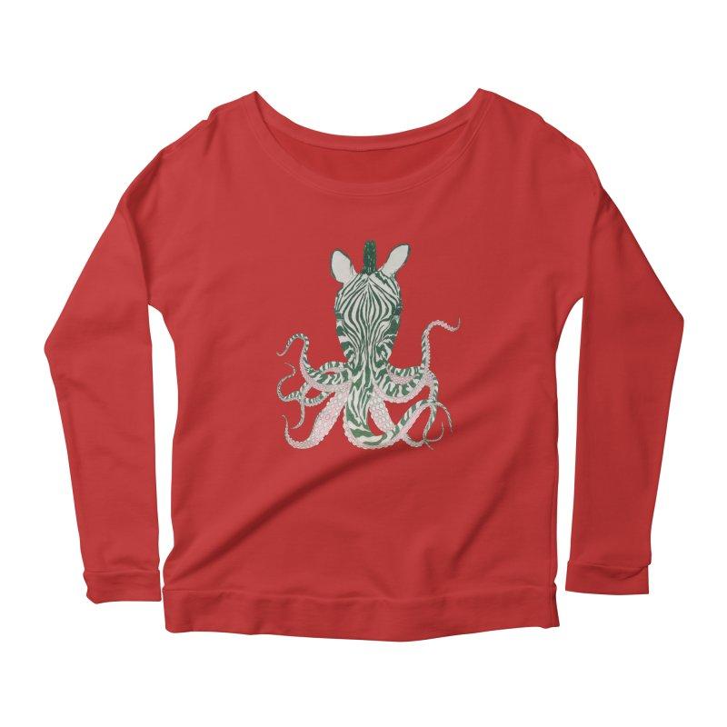 Zebropus Women's Scoop Neck Longsleeve T-Shirt by Adrian Geary's Artist Shop