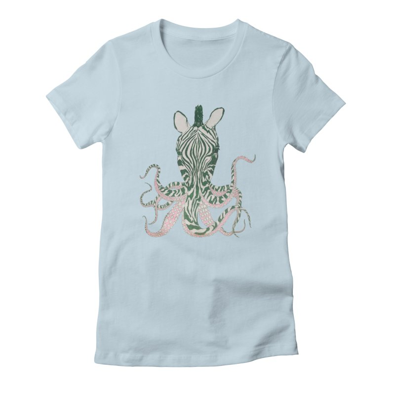 Zebropus Women's Fitted T-Shirt by Adrian Geary's Artist Shop