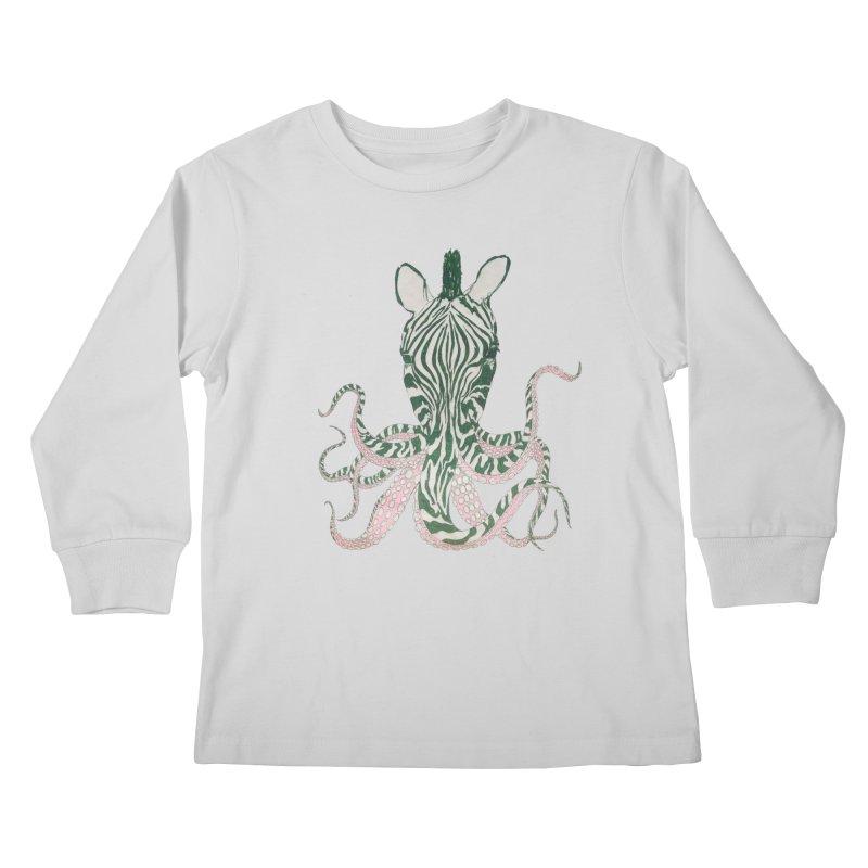 Zebropus Kids Longsleeve T-Shirt by Adrian Geary's Artist Shop
