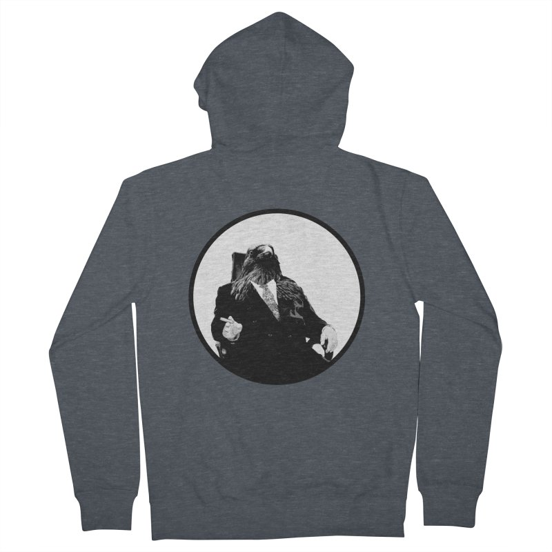 Don Crow Women's French Terry Zip-Up Hoody by Adrian Geary's Artist Shop