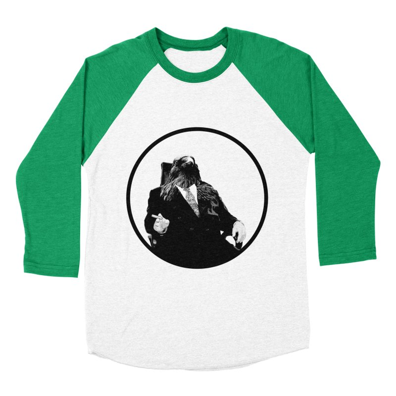 Don Crow Men's Baseball Triblend Longsleeve T-Shirt by Adrian Geary's Artist Shop