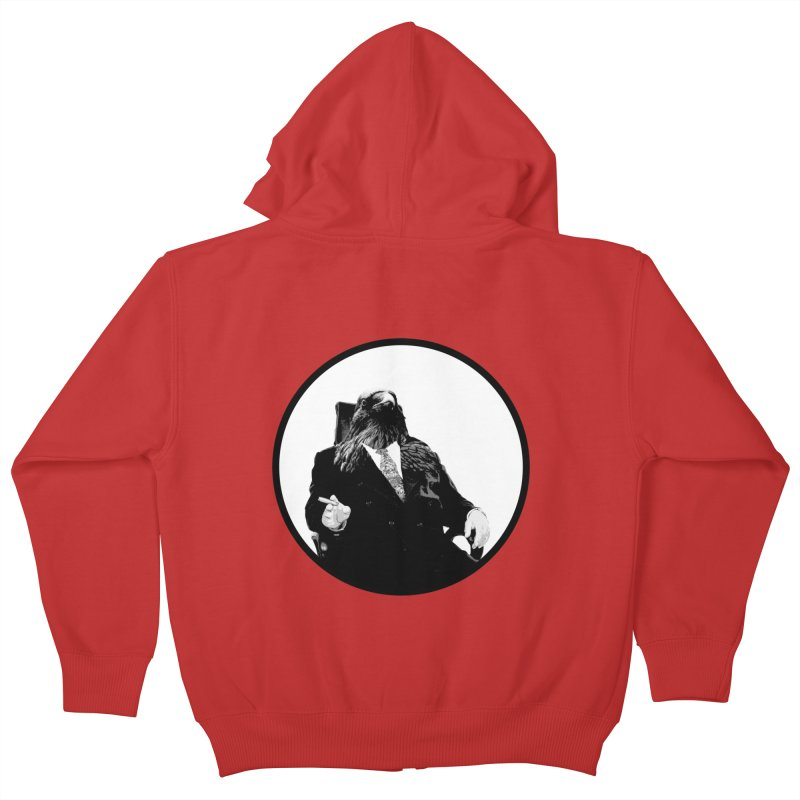 Don Crow Kids Zip-Up Hoody by Adrian Geary's Artist Shop