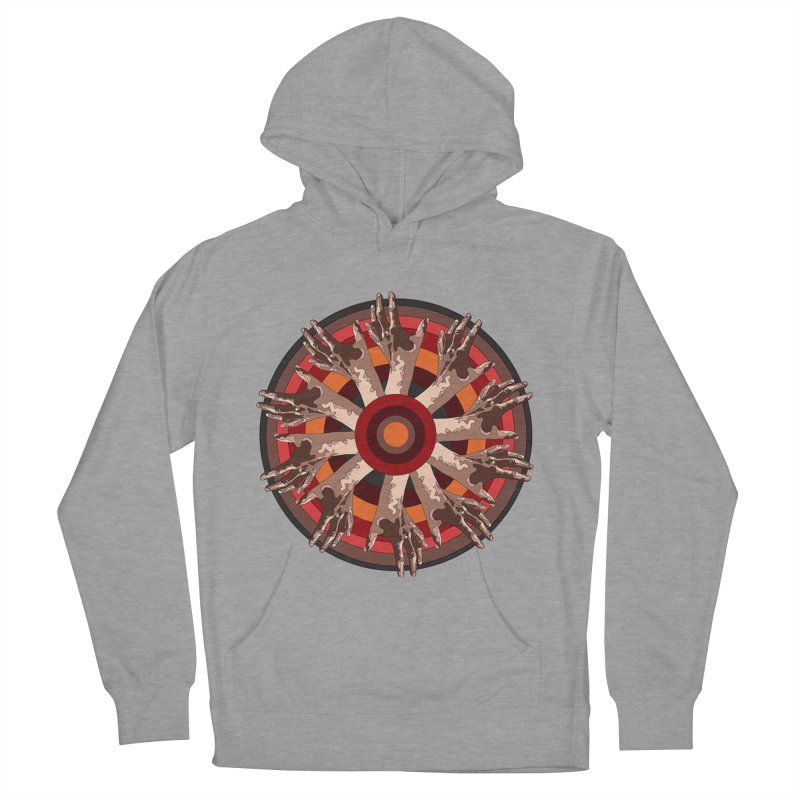 Mandala Hands Women's Pullover Hoody by Adrian Geary's Artist Shop