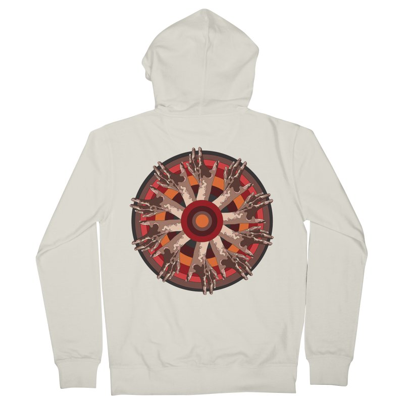 Mandala Hands Women's Zip-Up Hoody by Adrian Geary's Artist Shop