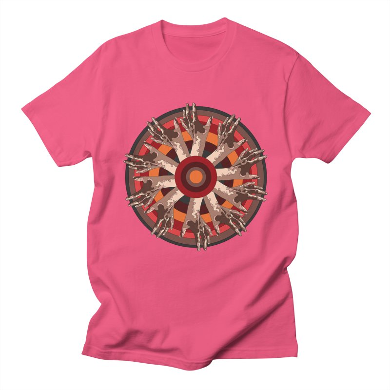 Mandala Hands Men's T-shirt by Adrian Geary's Artist Shop
