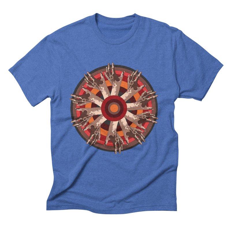 Mandala Hands Men's Triblend T-Shirt by Adrian Geary's Artist Shop