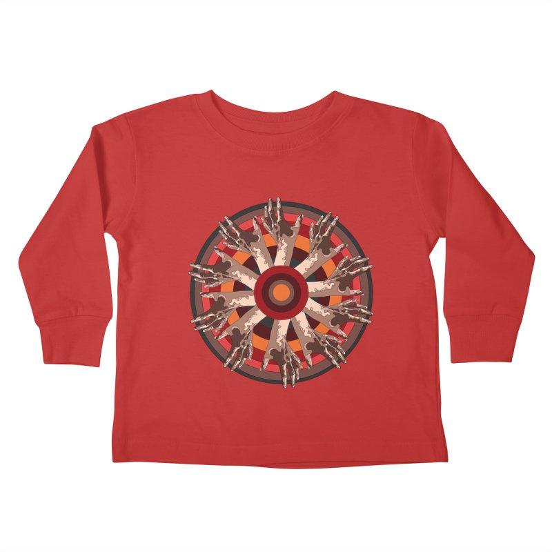 Mandala Hands Kids Toddler Longsleeve T-Shirt by Adrian Geary's Artist Shop