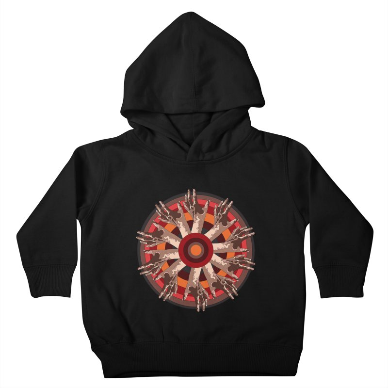 Mandala Hands Kids Toddler Pullover Hoody by Adrian Geary's Artist Shop