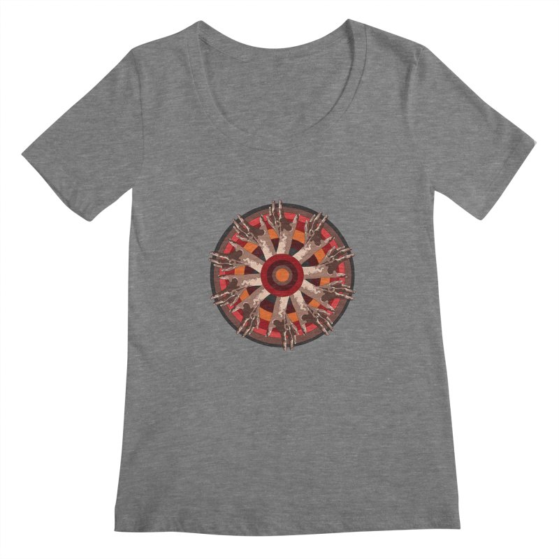 Mandala Hands Women's Scoopneck by Adrian Geary's Artist Shop