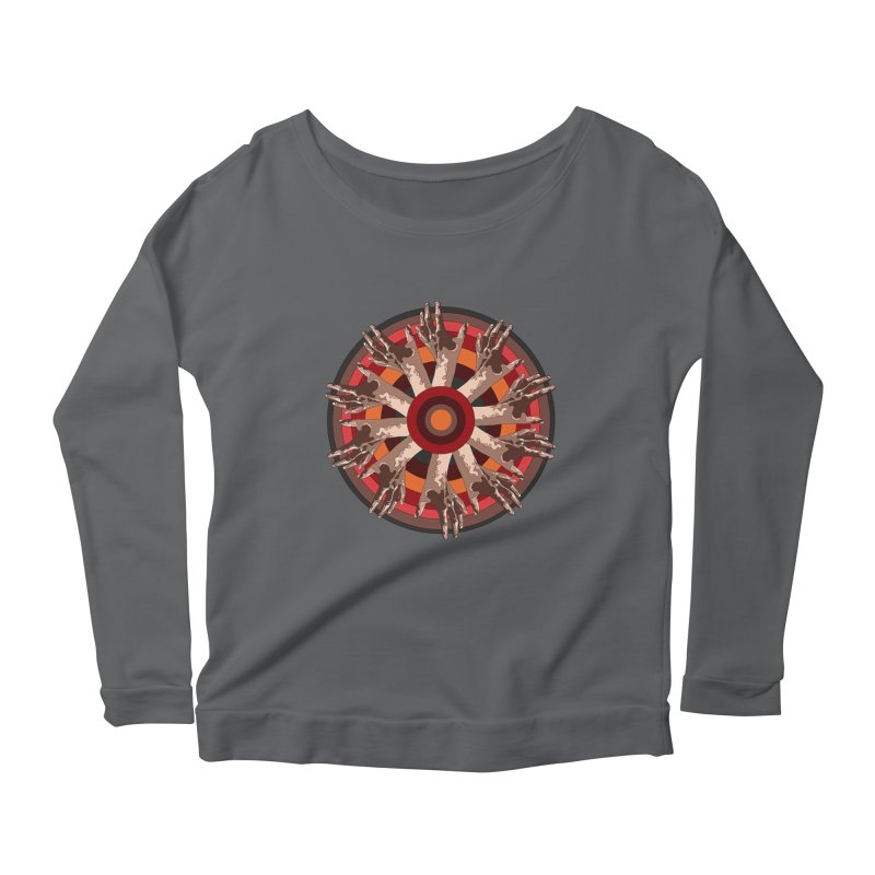 Mandala Hands Women's Longsleeve Scoopneck  by Adrian Geary's Artist Shop