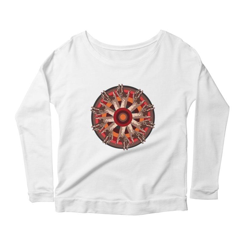 Mandala Hands Women's Scoop Neck Longsleeve T-Shirt by Adrian Geary's Artist Shop