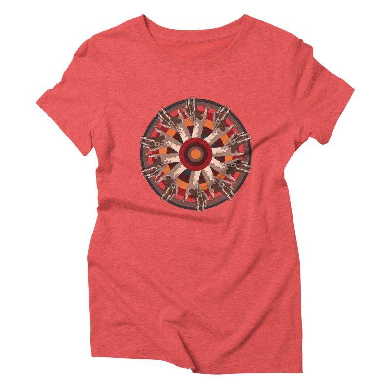 Mandala Hands Women's Triblend T-Shirt by Adrian Geary's Artist Shop