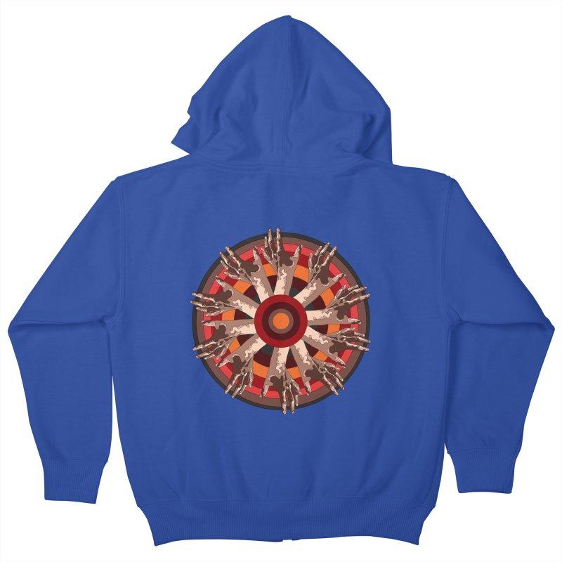 Mandala Hands Kids Zip-Up Hoody by Adrian Geary's Artist Shop